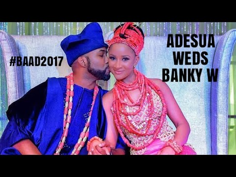 BEAUTIFUL WEDDING PHOTOS OF NIGERIA'S CELEBRITY SWEETHEARTS ADESUA ETOMI & BANKY W(#BAAD2017)