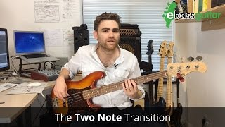 How To Play Bass Guitar Fills  -  Two Note Transition
