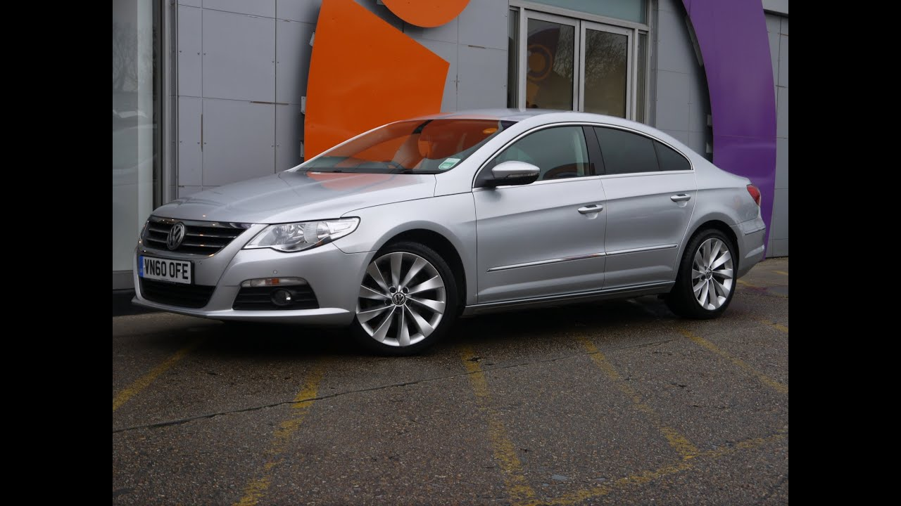 2010 volkswagen passat cc gt 2 0tdi 170 silver for sale in hampshire youtube. Black Bedroom Furniture Sets. Home Design Ideas