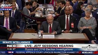 FULL HEARING: Sessions Testifies About Russia, Comey Firing at Senate Intel Committee Hearing (FNN) Free HD Video