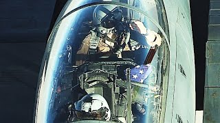 SUPERB FOOTAGE! HD up-close MIDAIR REFUELLING of F-15 Strike Eagles & French Rafales!