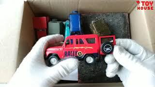 Открываю большую коробку с модельками джипами. Обзор и розыгрыш машинок.