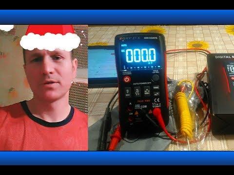 Мультиметр ZT-X, проверка напряжения и частоты инвертора с мод.синусом