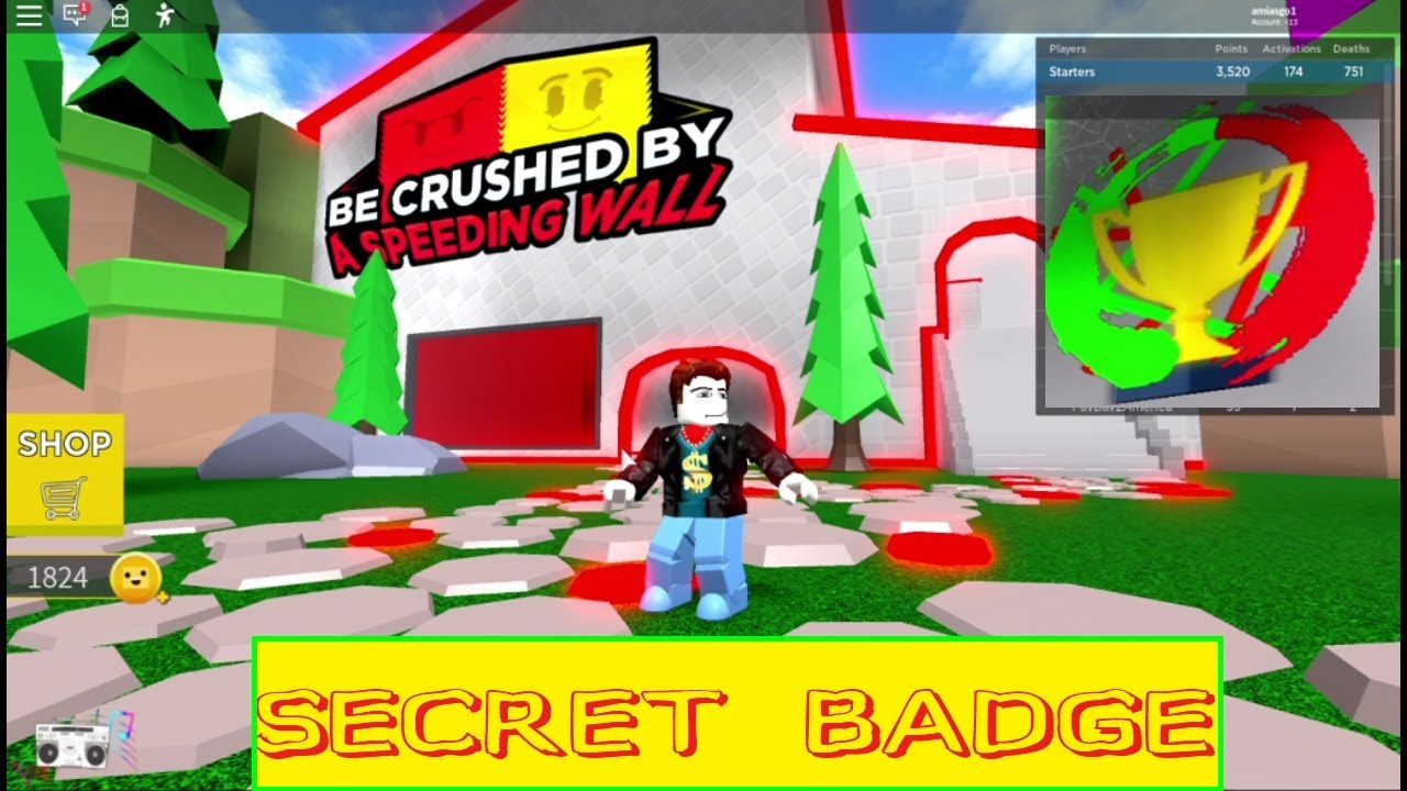 Roblox Be Crushed By A Speeding Wall Owner Id Code Roblox Be Crushed By A Speeding Wall 12 Secret Trials Badge Walkthrough October 2020 Youtube