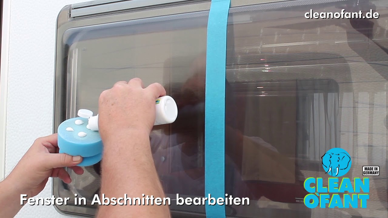 Kunststoff Fenster Polieren Hand Politur Wohnwagen Wohnmobil