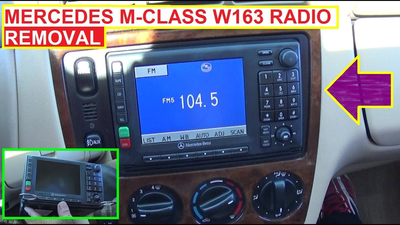 maxresdefault radio removal and replacement on mercedes w163 ml320 ml430 ml230 Ford Radio Wiring Diagram at crackthecode.co