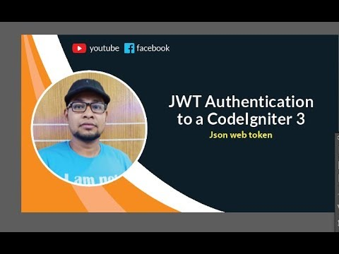 Jwt in php codeigniter | How to add JWT Authentication to a CodeIgniter 3  REST API | codeigniter