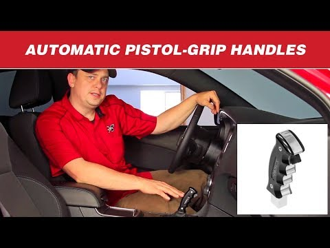 Hurst Billet/Plus Pistol-Grip Automatic Shift Handles for Challenger, Charger, Mustang and Camaro