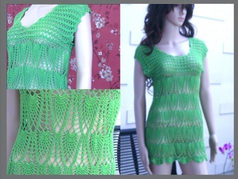 Crochet Summer Dress Tutorial Part 4 Of 4 Crochet The Lower Part
