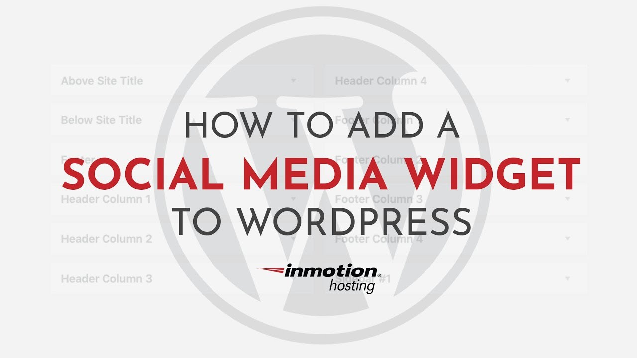 How to Add the Social Media Widgets Plugin to WordPress