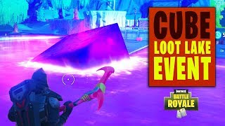 Fortnite | Cube Turns Loot Lake into Bouncing Lake (Full Cube Event / New Loot Lake)