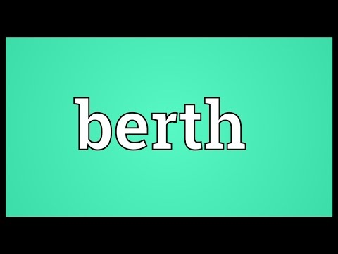 Berth Meaning - YouTube