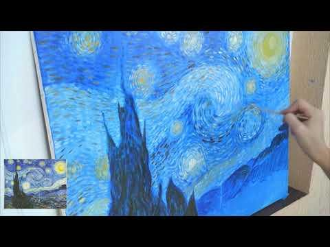 Ван Гог Звездная ночь / Свободная копия знаменитой картины