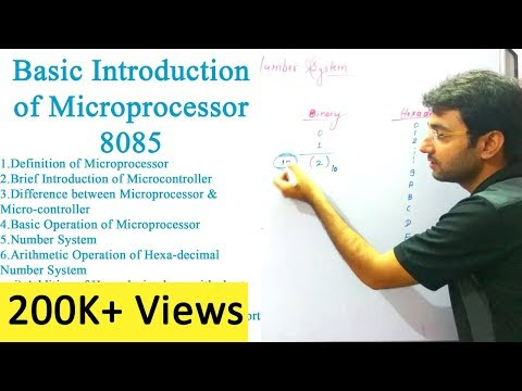 Microprocessor Lecture 1| Introduction of 8085 , Hexadecimal Number System