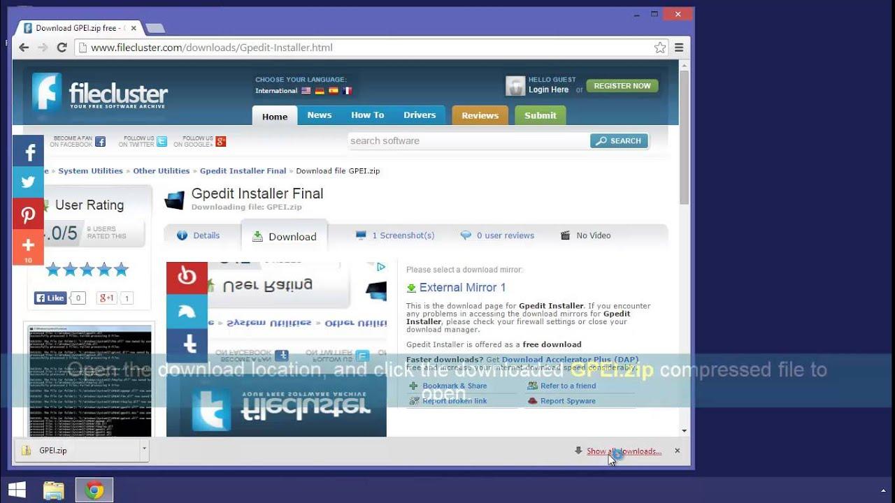 gpedit.msc missing windows 8.1