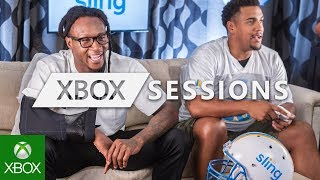 DeAndre Hopkins wears an arm sling while playing Madden NFL 20