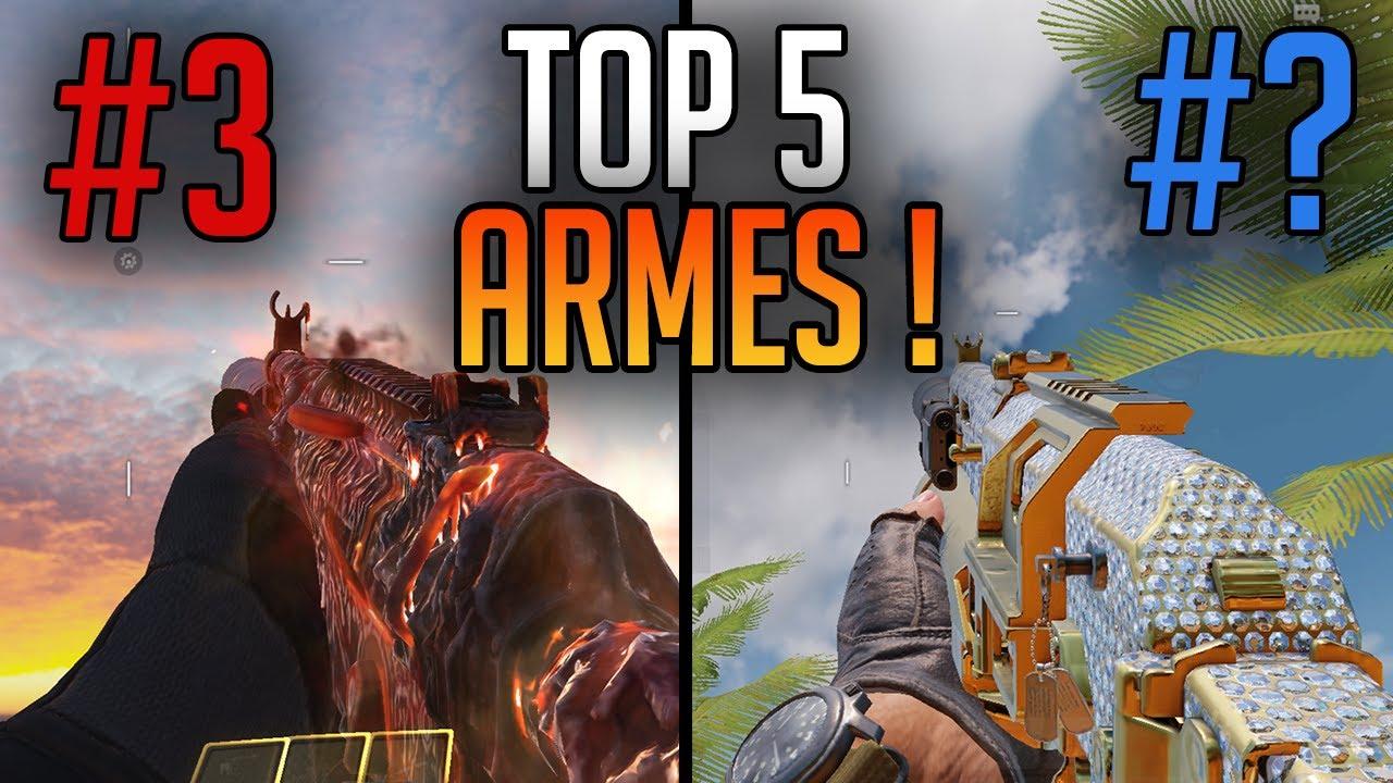 TOP 5 MEILLEURES ARMES SUR COD MOBILE FR !! (+ Meilleurs Classes) ! Saison 5 !
