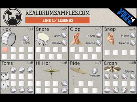 Line of Legends VST drum kit