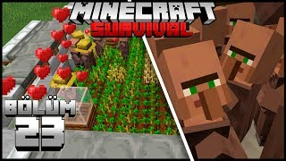 1.14 YENİ SINIRSIZ KÖYLÜ FARMI!┇Minecraft Survival ▹Bölüm 23