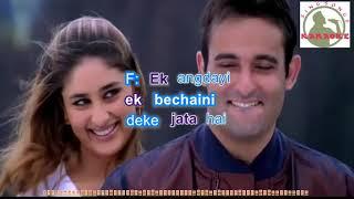Rafta Rafataa Hole Hole Hindi karaoke for female singers with lyrics (ORIGINAL TRACK)