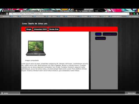 VIDEOTUTORIAL -  HTML5: SECTION, ASIDE, FOOTER CON CSS