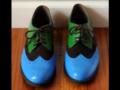 b6e3813f Pintura sobre Cuero - Pintar Zapatos - Bolsos - Esmaltes Acrilicos - -  YouTube