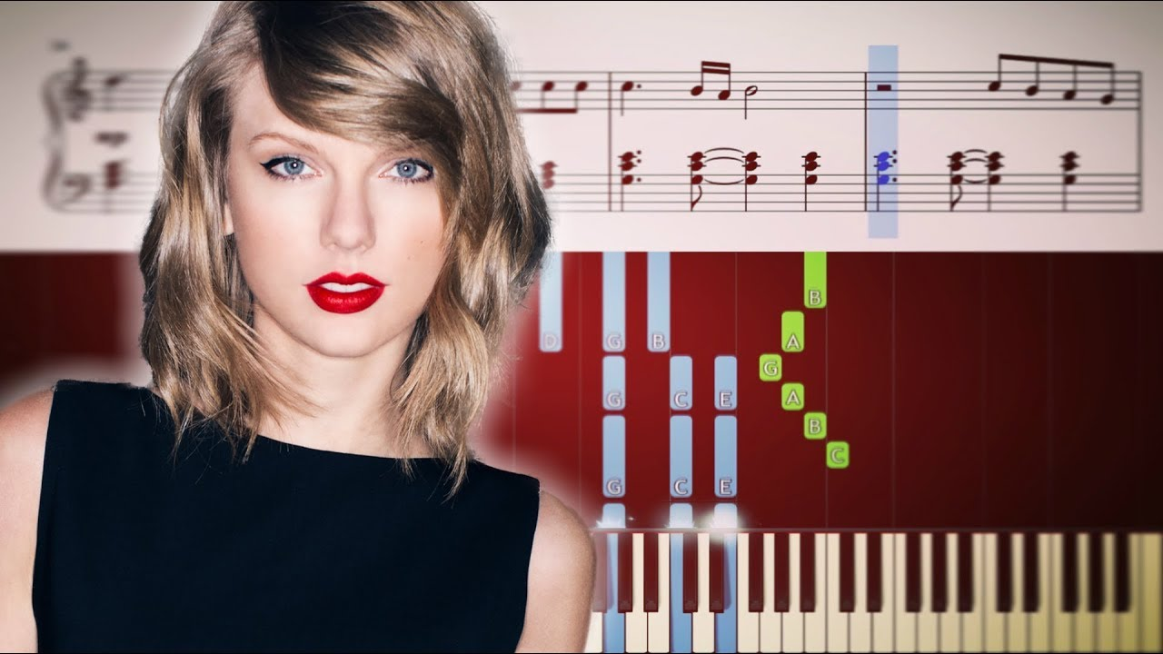 Taylor swift new year's day piano with sheets (best version.