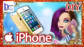 Как сделать ТЕЛЕФОН iPHONE 6/ ПЛАНШЕТ iPAD для кукол Монстер Хай, Барби (без распечаток)+мультик(, 2016-07-15T04:00:00.000Z)