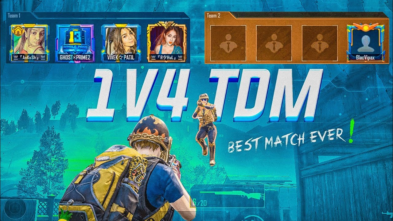 Download Solo 40 Kills in 1v4 TDM Match | They Challenged Me for 1v4 TDM Sniper Only