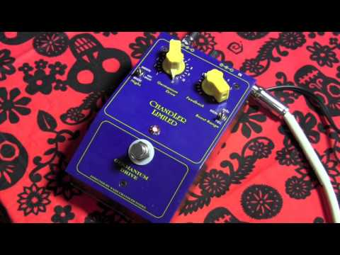 Chandler Limited GERMANIUM DRIVE guitar effects pedal demo with Stratocaster