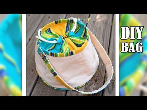 DIY ROUND ADORABLE TOTE BAG TUTORIAL // Cute Purse Bag Cut & Sew Making Idea