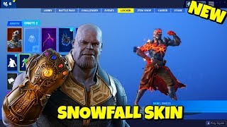 New FIRE THANOS - SNOWFALL SKIN + EDIT STYLES In-Game Fortnite