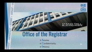 Registrar's Office 2021