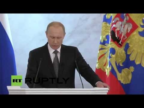 LIVE - Vladimir Putin's annual address to Federal assembly (English)