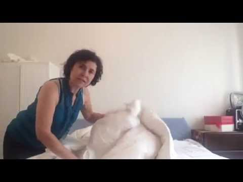 How to put on a Duvet Cover Easily | easiest way to put on a duvet cover | no shaking no rolling