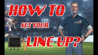 How to Set your Line-up (goalunited Legends)
