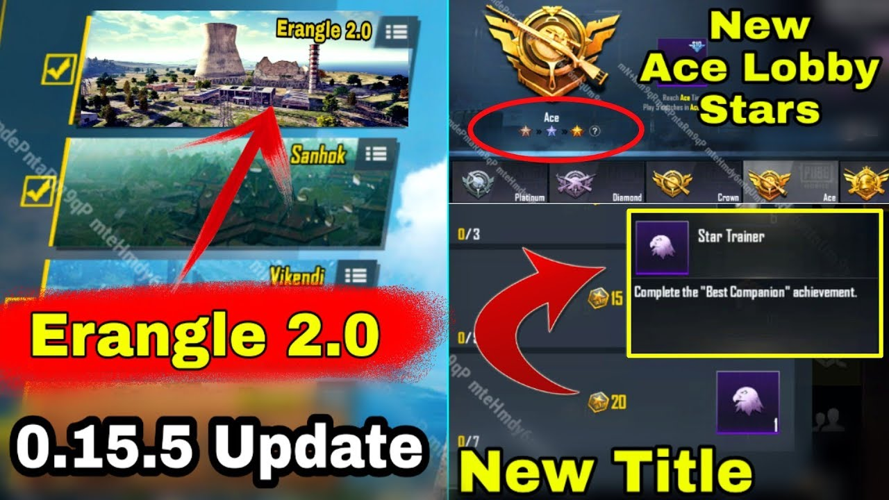 PUBG Mobile 0.15.5 Update With New Map | Erangle 2.0 | Season 10 Update is here Pubg Mobile