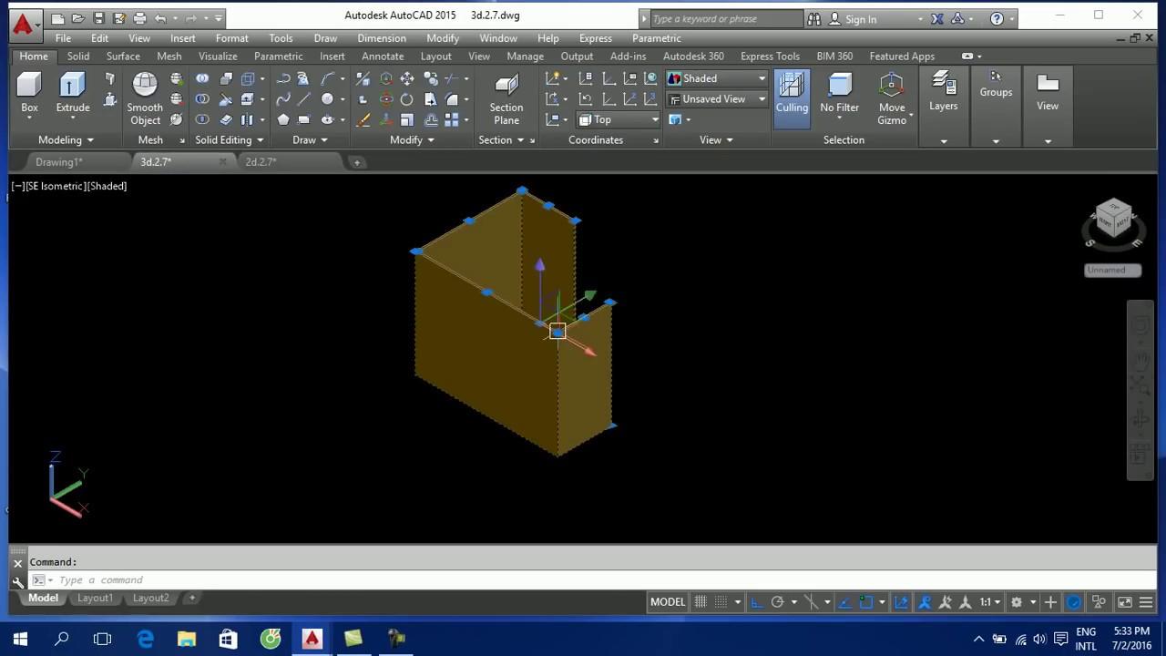 Dạy vẽ AutoCAD 3D cơ bản – bài 3 thực hành vẽ AutoCAD 3D cái bàn tiếp tân