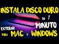 Como instalar DISCO DURO externo en MAC y que funcione en PC y MAC