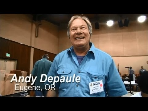 Andy DePaule at Guild of American Luthiers