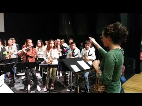 L'orchestre du collège Voltaire de Sorgues répète pour son concert à l'Olympia