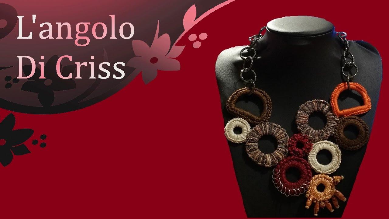 Collana Alluncinetto Etno Summer Crochet Necklace Collar En