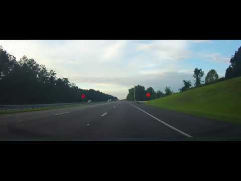 Driving on Interstate 75 from Gainesville, Florida to Tampa