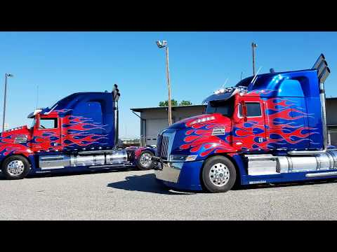 Optimus Prime gives a special thank you to Cleveland Plant