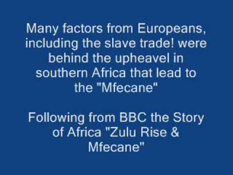 Mfecane in South Africa and the African holocaust in general