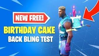 Gâteau d'anniversaire Nouveau Retour Bling Test sur chaque peau - Fortnite Battle Royale