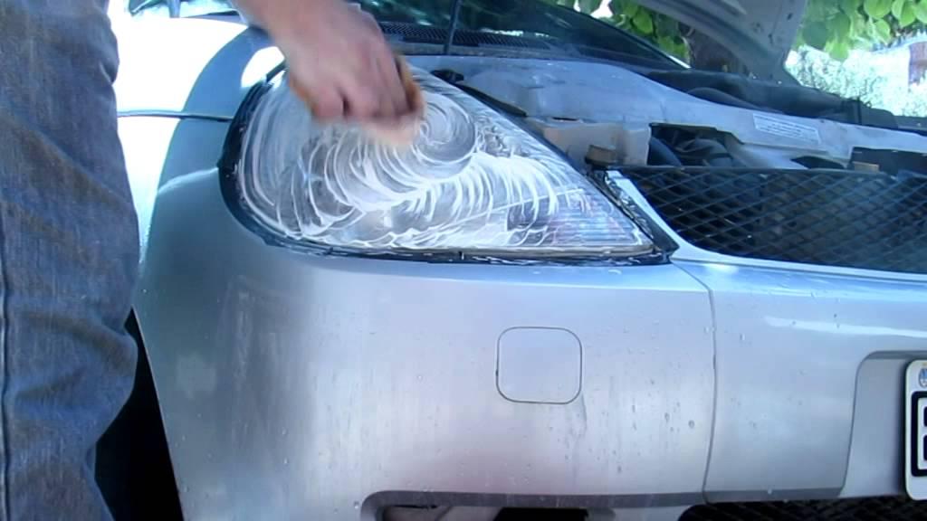 Como pulir faros de auto , limpiar opticas de auto- - YouTube