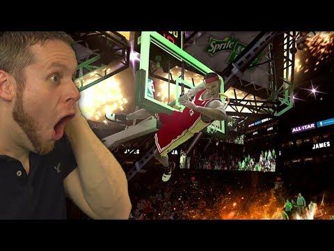 NBA LIVE DUNK CONTEST IS INSANE! SO GLITCHED LOL!