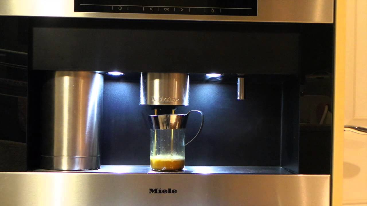 Miele Cva 5065 Coffee Machine Pre Brewing Coffee Pour Youtube