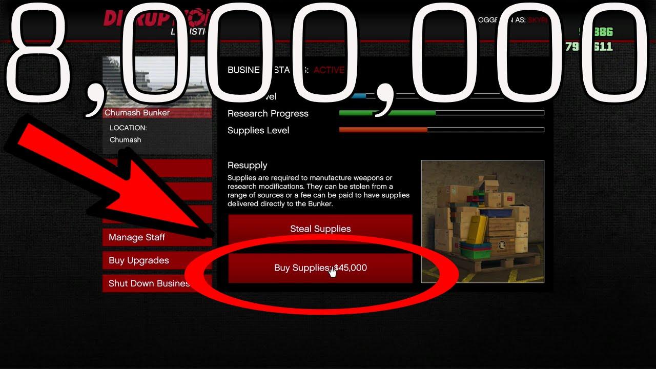 8 000 000 gta v gun running buying supplies youtube